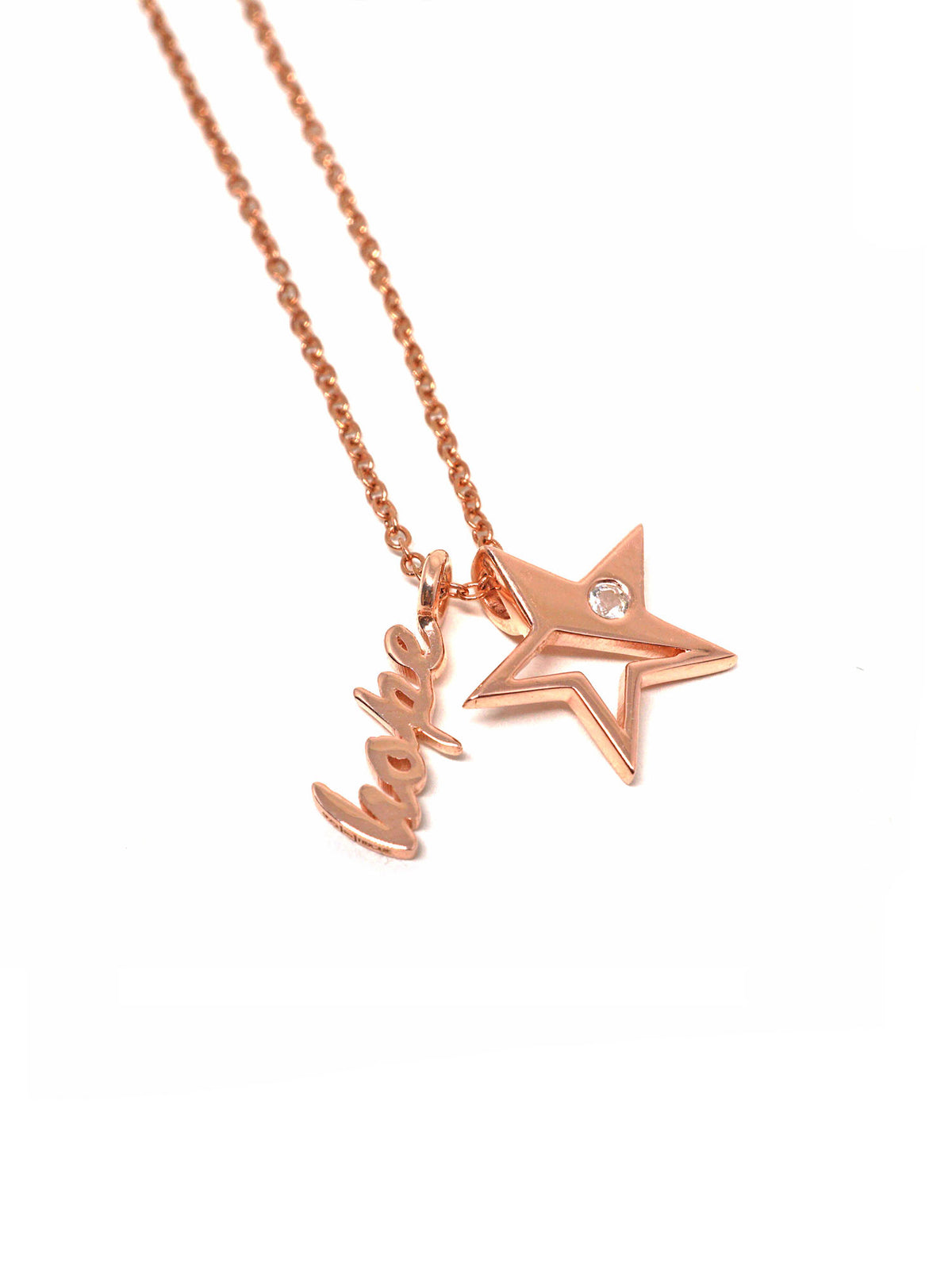 Sparkle Necklace - Hope - Rose Gold