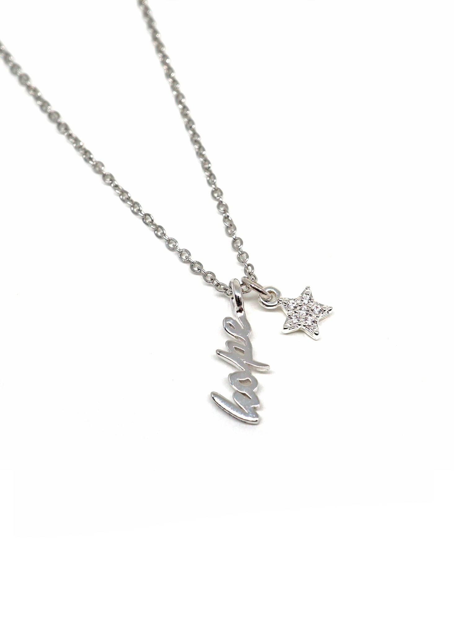Sparkle Necklace Mini - Hope - Silver