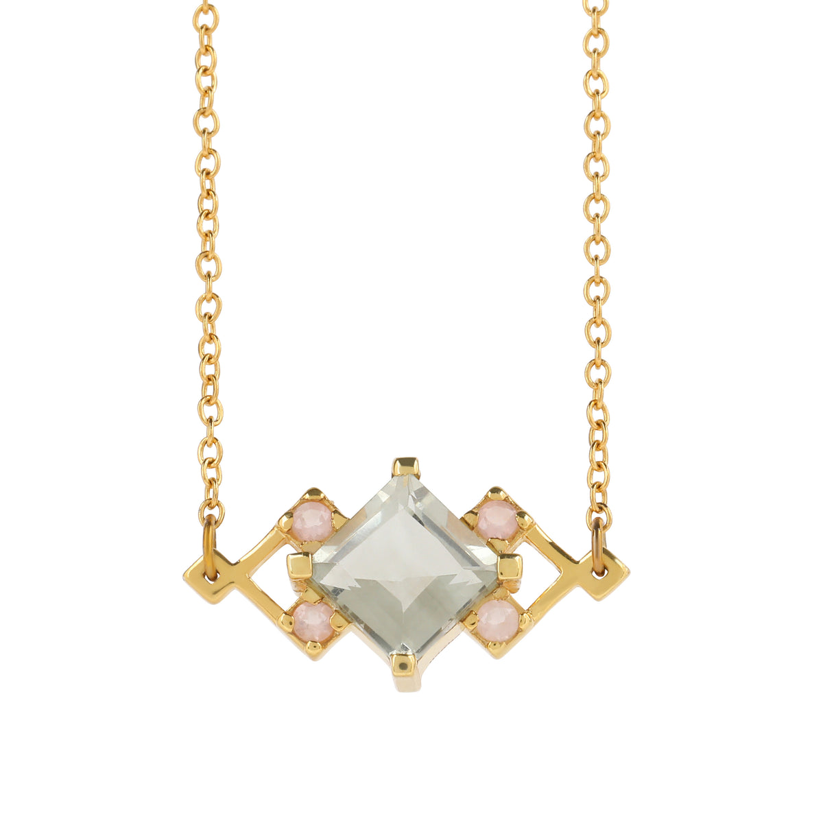 Reconceptions Petite Necklace - Gold - Green