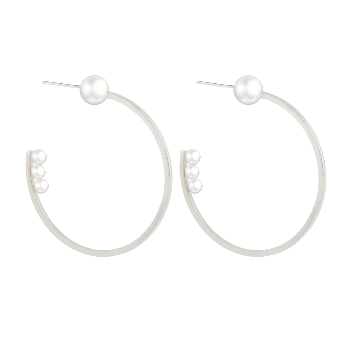 Voyage Pearl Hoop Earrings