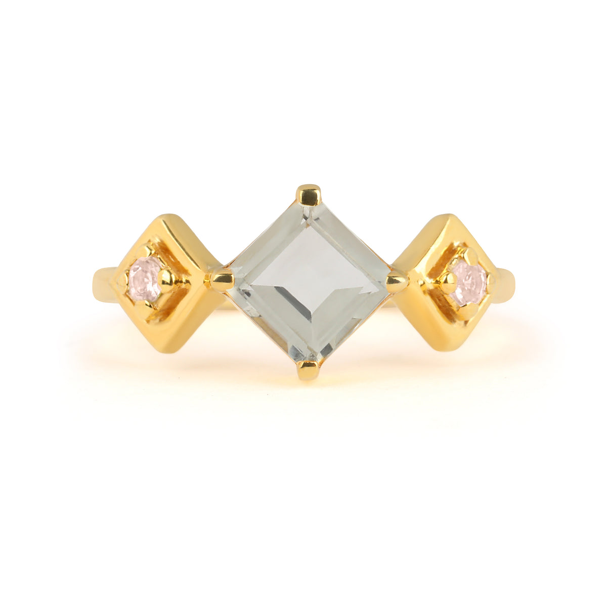 Reconceptions Stackable Ring - Gold - Green