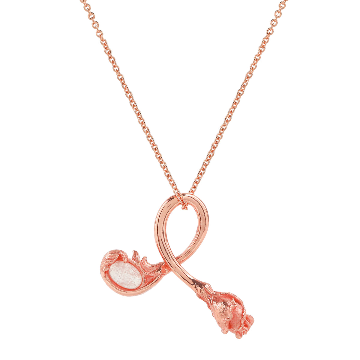 Rose Necklace - Pink
