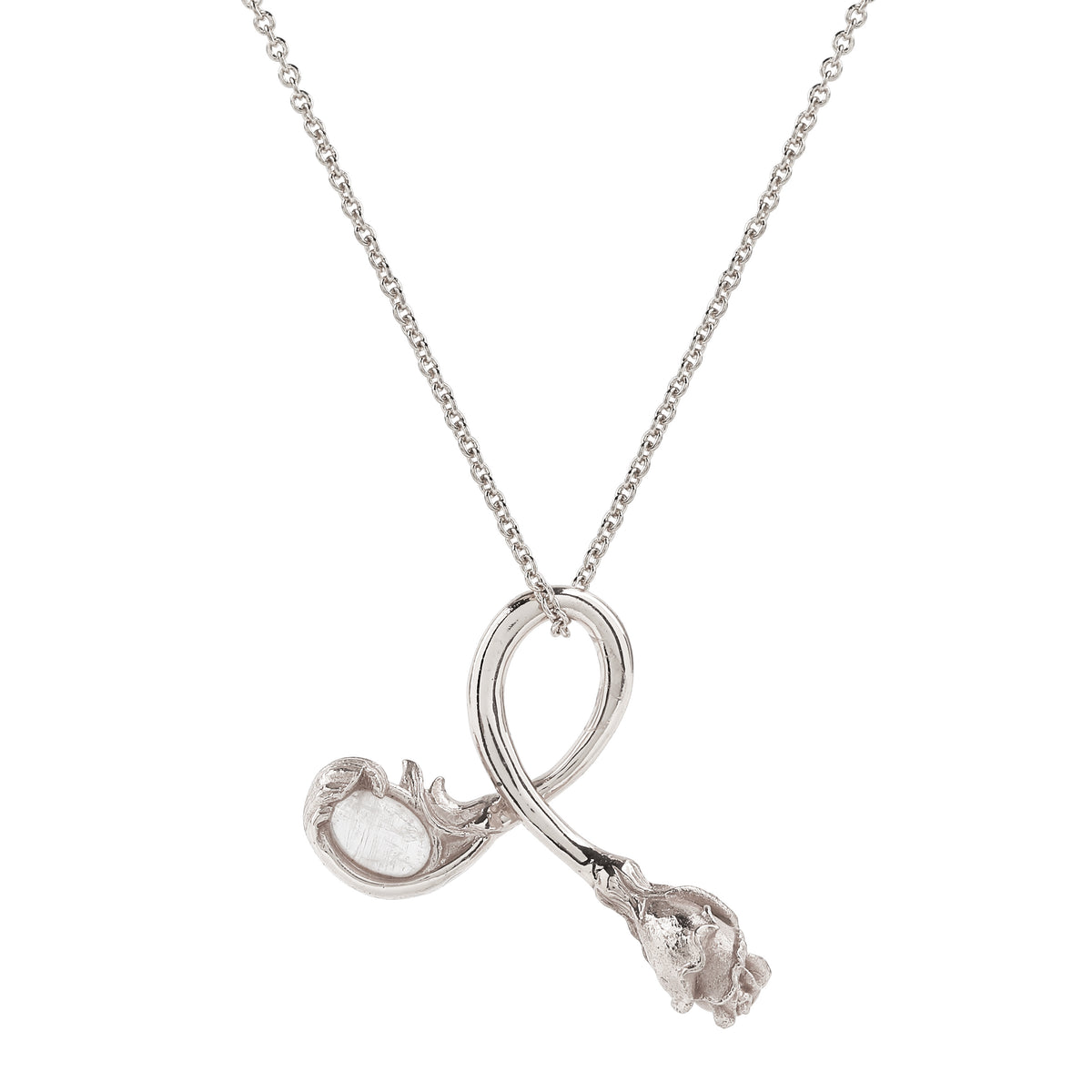 Rose Necklace - Rhodium