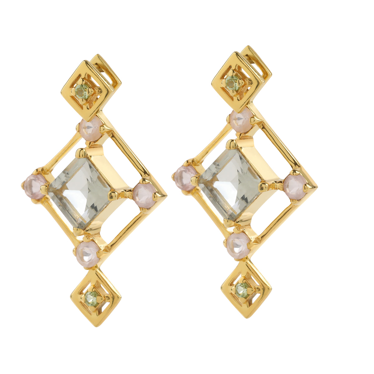 Reconceptions Two-Way Studs - Gold - Green