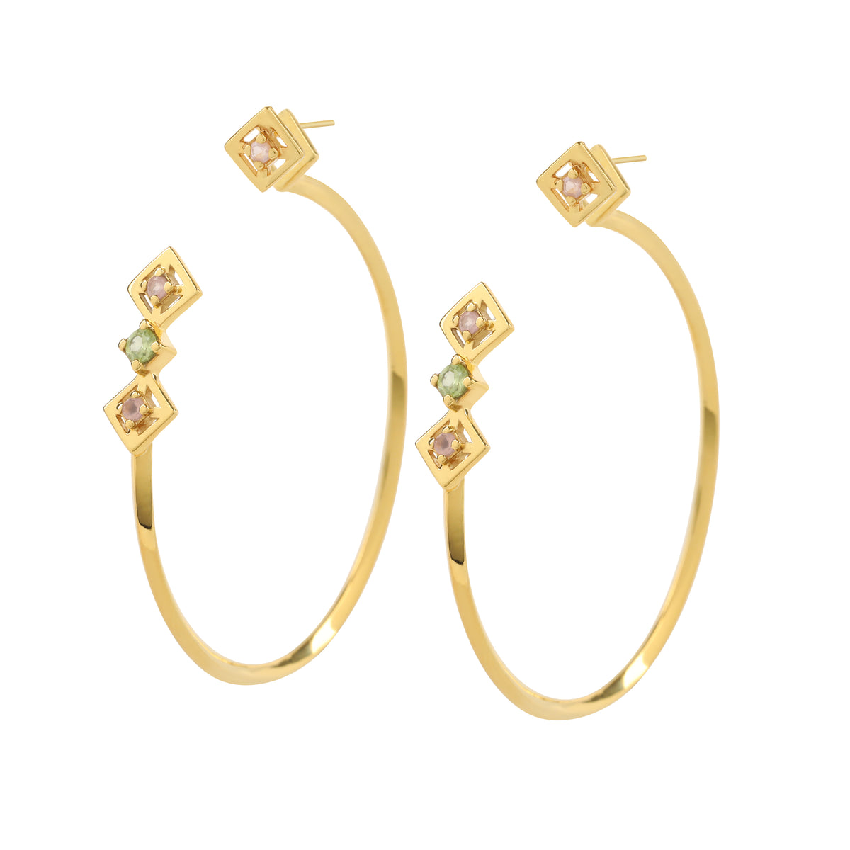 Reconceptions Two-Way Hoops - Gold - Yellow