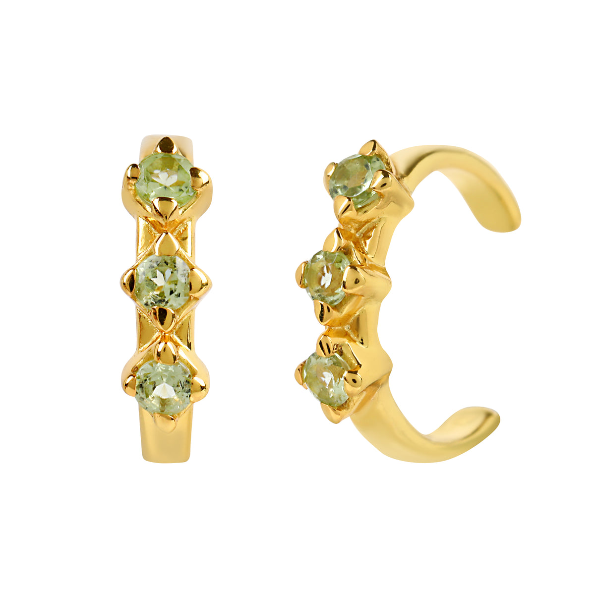 Reconceptions Ear Cuffs - Gold - Green
