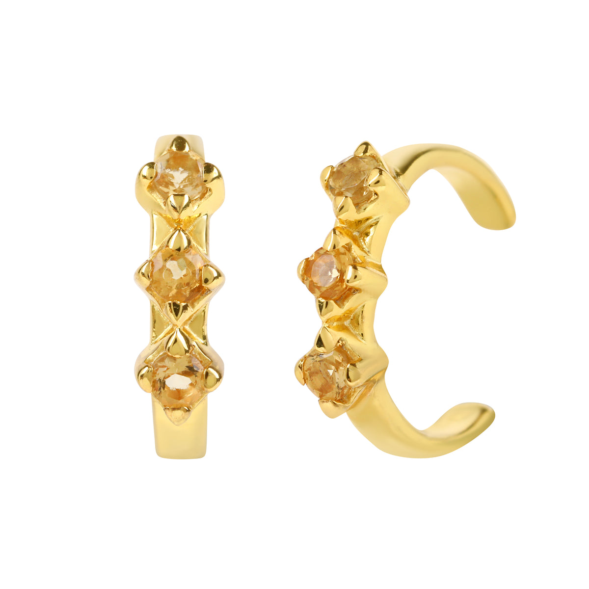Reconceptions Ear Cuffs - Gold - Yellow