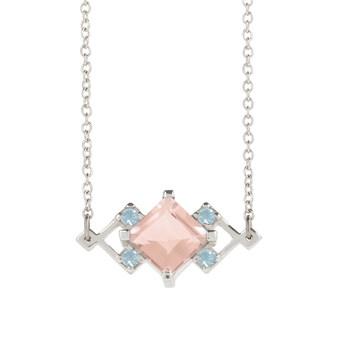 Reconceptions Petite Necklace - Rhodium - Pink