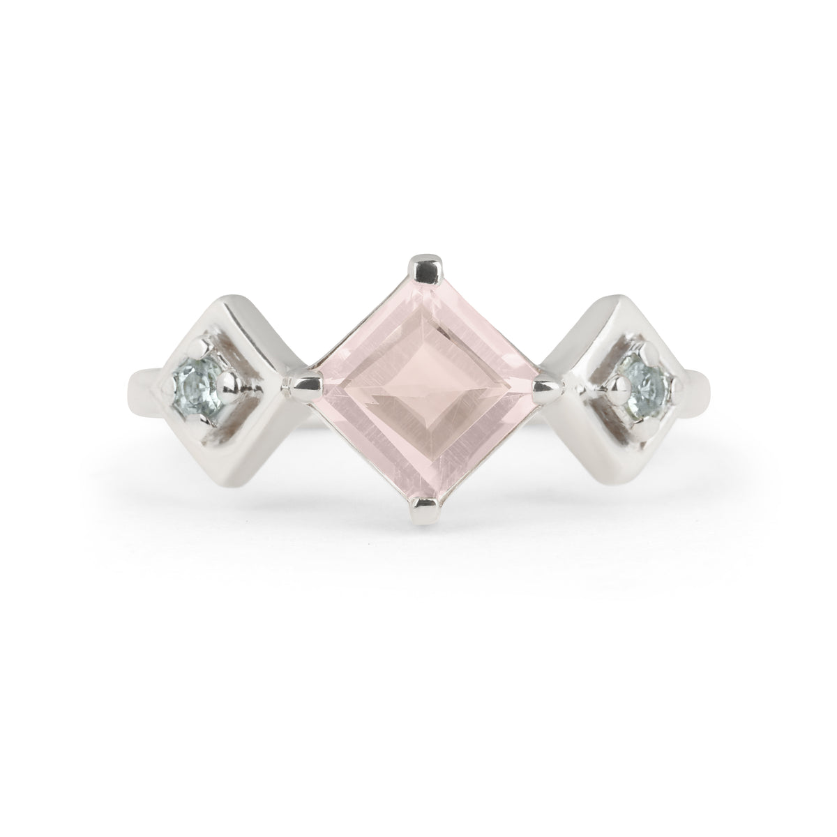 Reconceptions Stackable Ring - Rhodium - Pink
