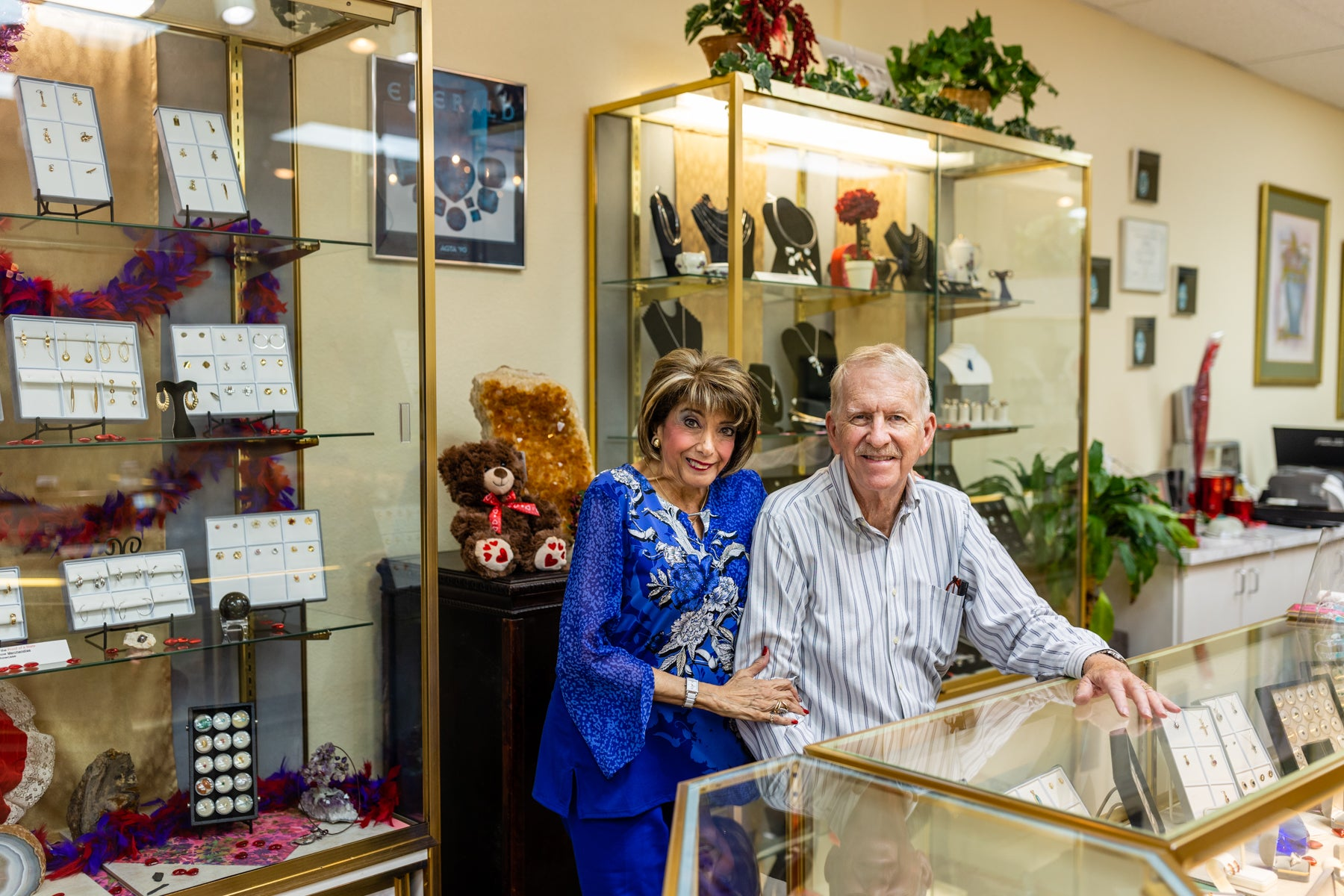 Vicki & Fred Mitchell owner's of Victoria's Jewels