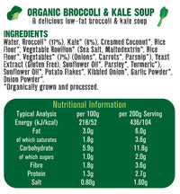 Organic Broccoli & Kale Soup 400g.