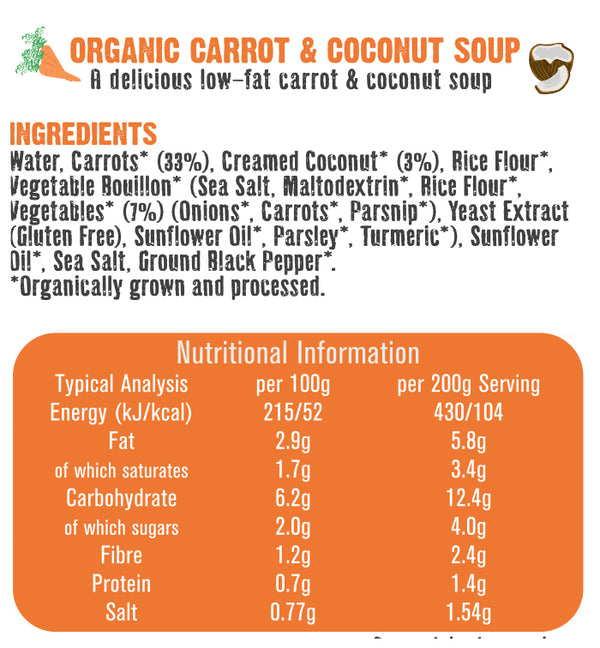 Free & Easy - Organic Carrot & Coconut Soup 400g