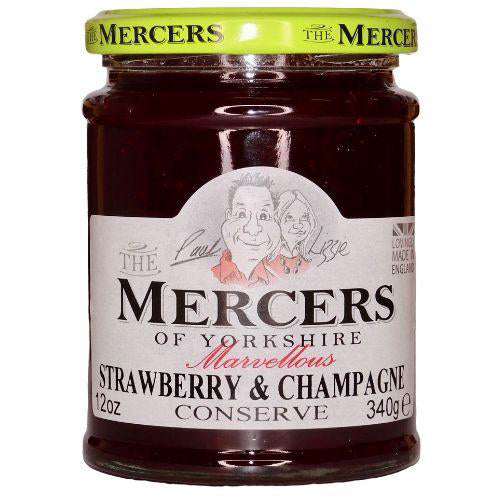 Mercers of Yorkshire Strawberry & Champagne Conserve 340g-The Green Berry