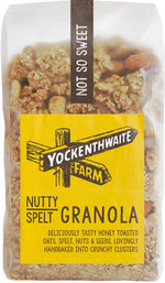 Nutty Spelt Granola Not So Sweet 475g-The Green Berry