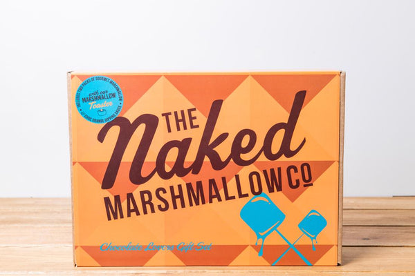 The Naked Marshmallow Co. - Chocolate Lovers Gift Set with Chocolate Dipping Sauce