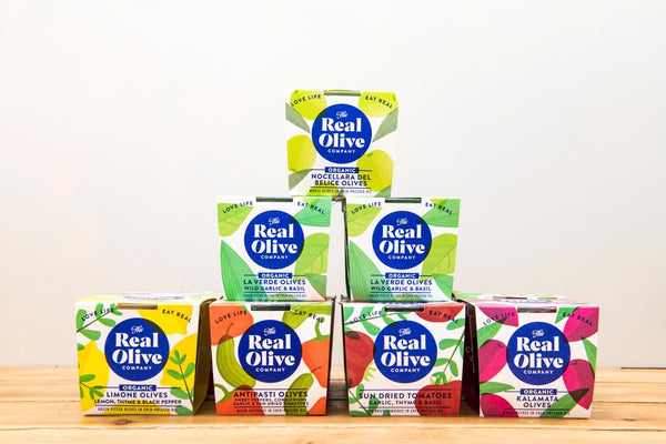 The Real Olive Company - Organic Limone Olives 185g 40% Off!