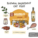 Scrumbles Complete Grain free Chicken Wet Cat food for Kittens and Cats 85g.
