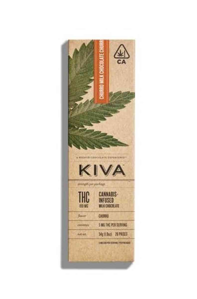 KIVA Bar | Dark Chocolate Toffee Crunch 100mg THC