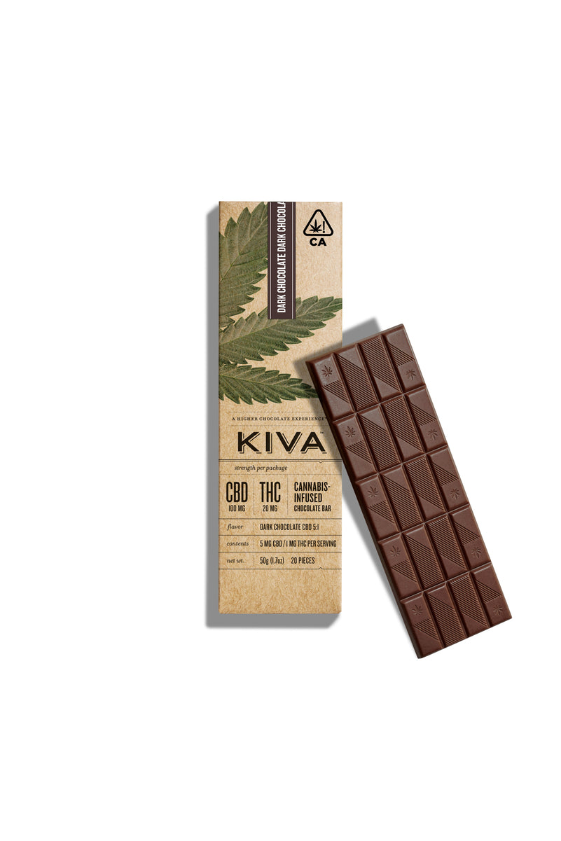 KIVA Bar | Dark Chocolate CBD 5:1