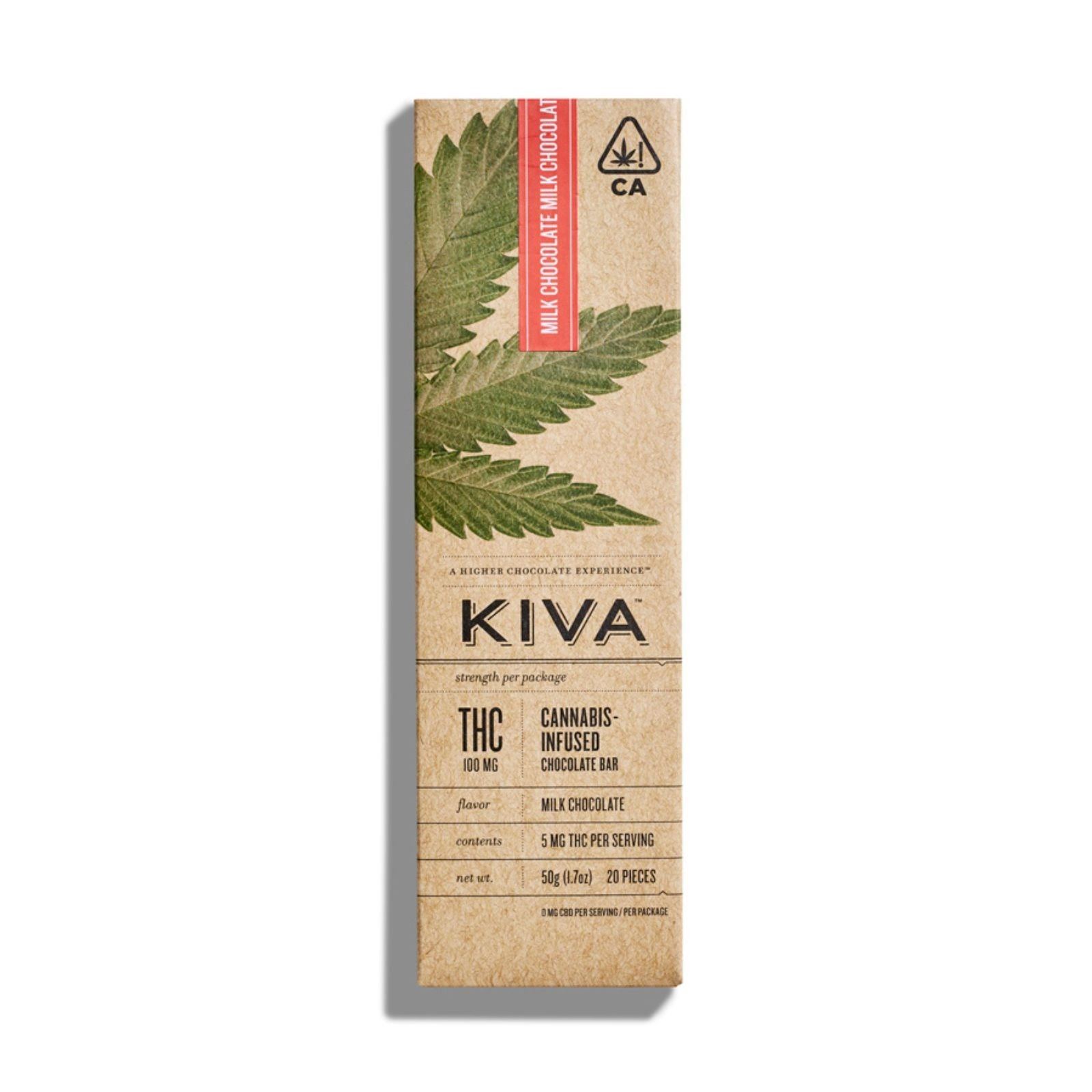 KIVA Bar | Milk Chocolate 100mg THC