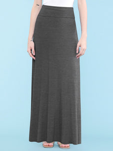 WB670 Womens Fold-Over Maxi Skirt