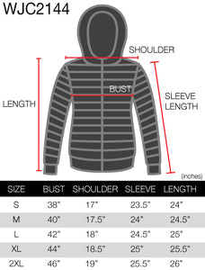 WJC2144 Women's Ultra Light Weight Packable Down Jacket with Removable Hoodie