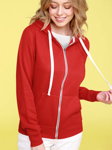 WSK954 Women's Active Casual Zip-up Hoodie Jacket Long Sleeve Comfortable Lightweight Sweatshirt