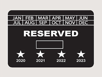 Parking Permit 3x2 - Rectangle - Reserved - Tamper Proof
