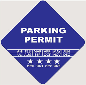 Parking Permit 3x3 - Diamond - Tamper Proof