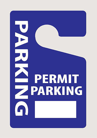 "Hang Tags 2.75x4.25"" - Parking Permit"