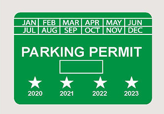 Parking Permit 3x2 - Rectangle - Tamper Proof