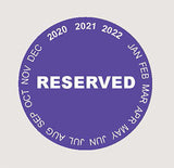 "Parking Permit 2"" - Circle - Reserved"