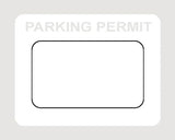 Parking Permit 3x2 - Rectangle - On Demand