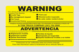 English/Spanish Warning 5x3 - Rectangle