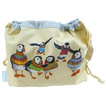 Woolly Puffins Project Bags - Emma Ball