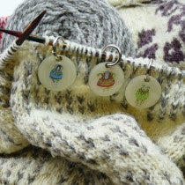 Sheep in Sweaters stitch markers - Emma Ball