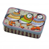 Woolly Puffin Rectangular Tins - Emma Ball