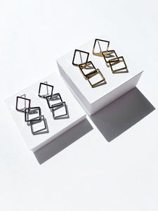 Square chain Earrings