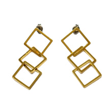 Load image into Gallery viewer, Square chain Earrings