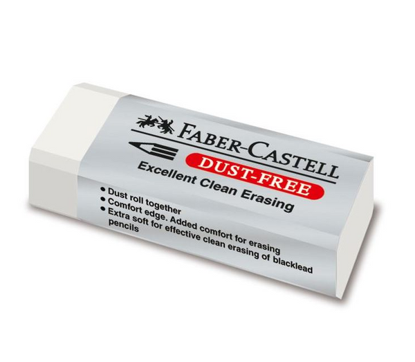 Dust-Free Eraser, White