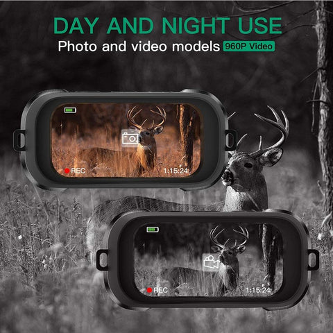 HD Night Vision Binoculars IR Vision | Camera & Video | 4X Digital Zoom | Water Resistant | Wild Crave