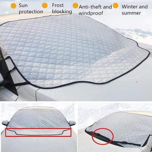 Horizon Care Car cover All Weather Universal 1 PC Car Snow Windshield Anti-Wind Sun Rain Snow Dust Protection Cover By Horizon Care