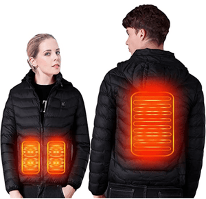 The Wild Crave Heated jacket jacket black / XXL USB Electric Heating Vest Jacket Winter Heated Pad Body Warmer for Men Women By Wild Crave