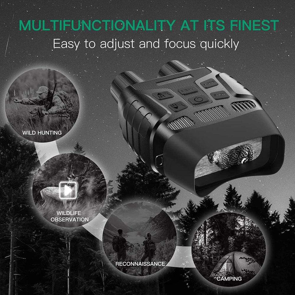 WildCrave Night Vision Binoculars HD Night Vision Binoculars IR Vision | Camera & Video | 4X Digital Zoom | Water Resistant | Wild Crave