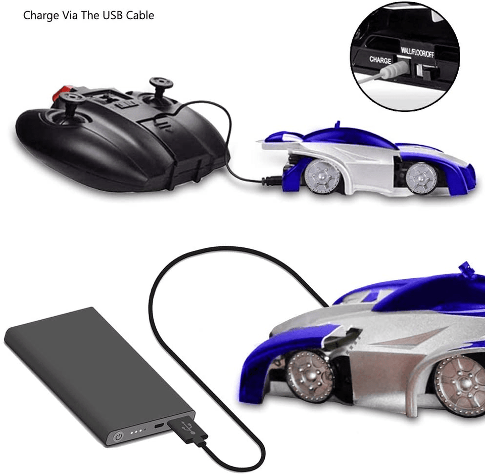 WildCrave RC car Best Rechargable Wall Climbing RC 360 Degree Rolling Antigravity electric car toy by Wild Crave