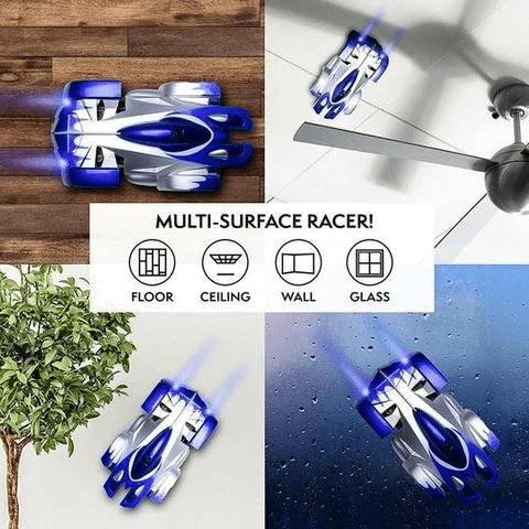 WildCrave RC car Infrared Laser Tracking Wall Climbing Car Follow-light Remote Control Stunt Wall Climbing Car 360 Degree Rolling RC Car