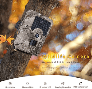 WildCrave CN / with 2 Battery 1080P HD Waterproof Hunting Camera Trail Camera Motion Detection Infrared Camera Wildlife Surveillance Camera Photo Traps