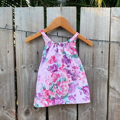 Girls Floral Handmade Top