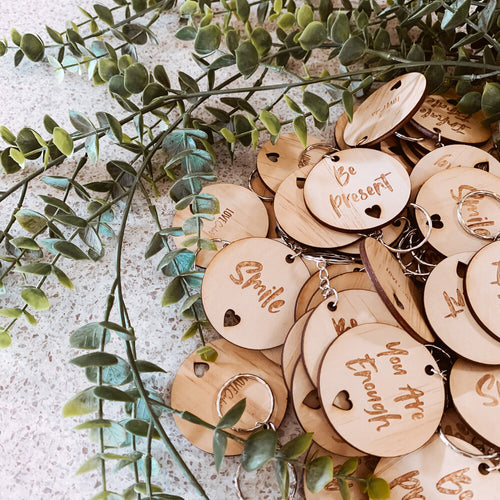 wooden inspire keyrings broome