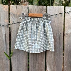 Ruffle Waist Metallic Skirt - Sizes 1-4